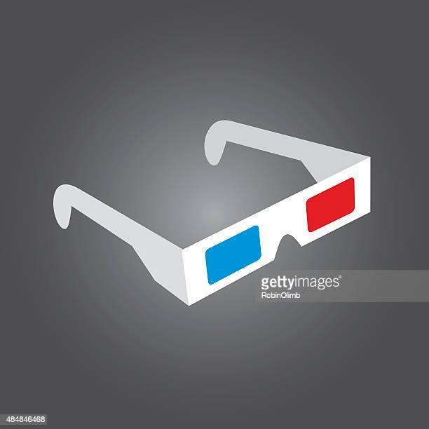 Retro Óculos de 3D