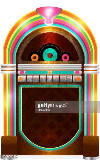 retro 50s jukebox - 45 49 years stock illustrations, clip art, cartoons, & icons