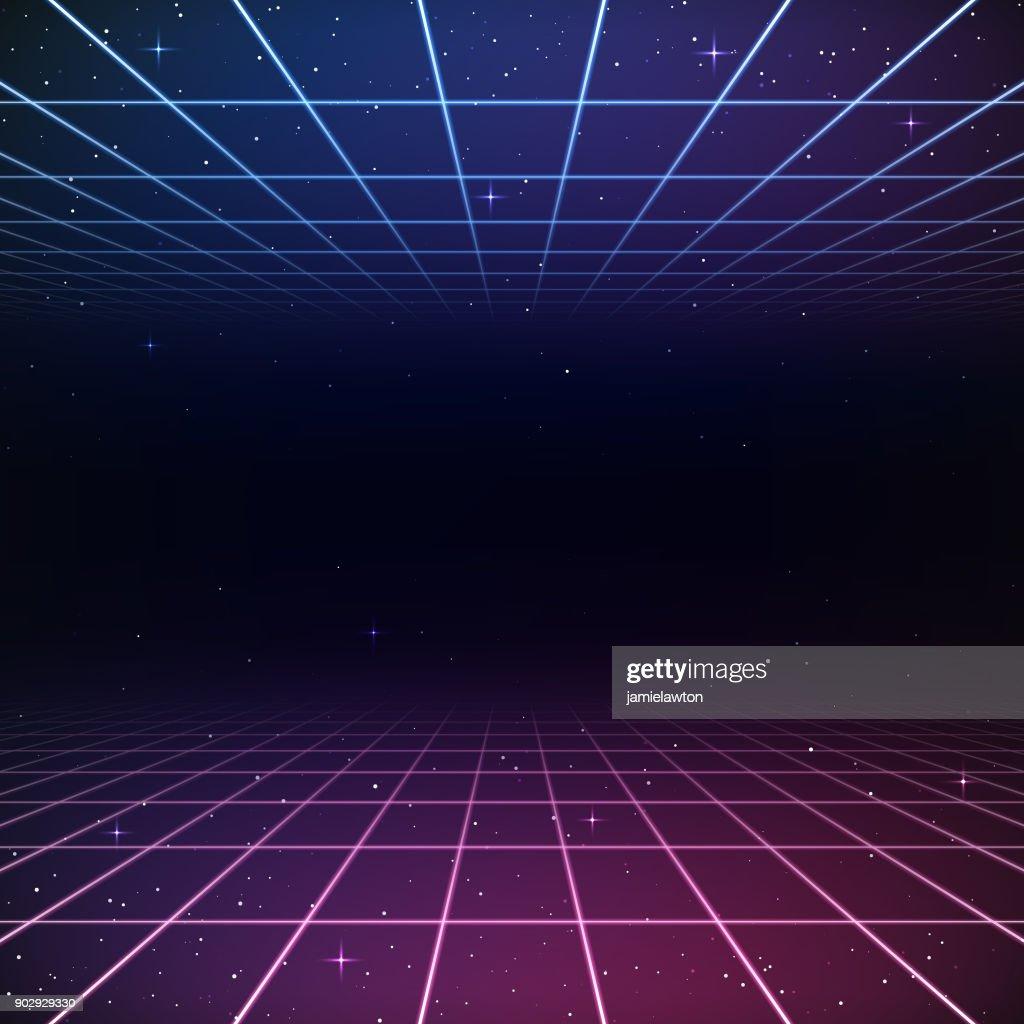 Retro 80s Background : stock vector