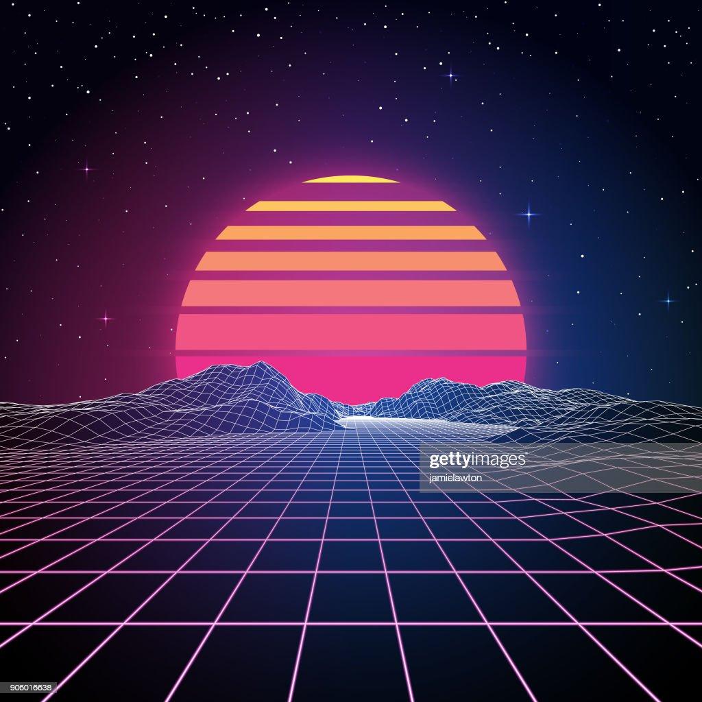 Retro 80s Background : stock illustration