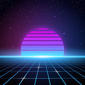 Retro 80s Background