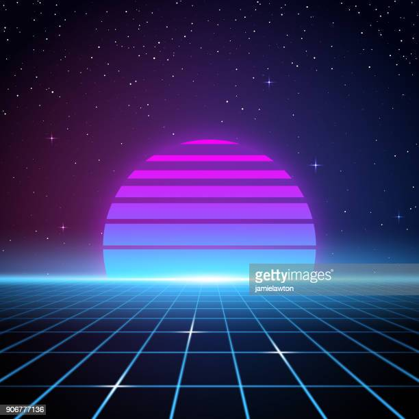 retro 80s background - retro style stock illustrations