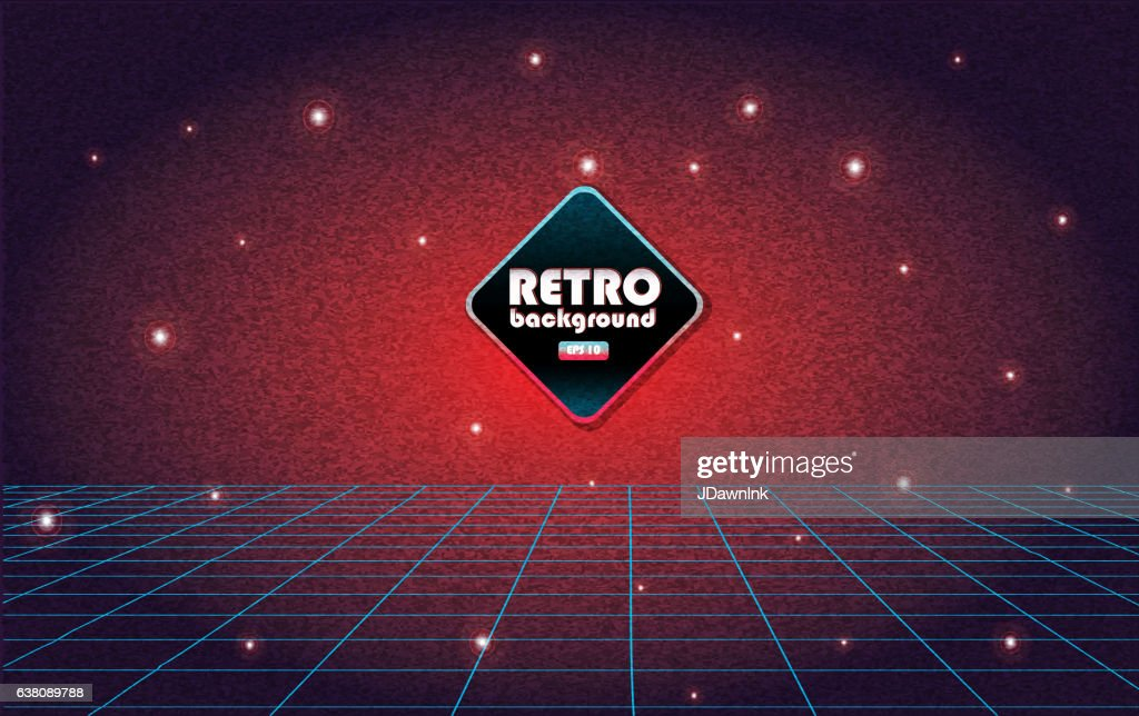 Retro 80s background with texture noise : stock vector