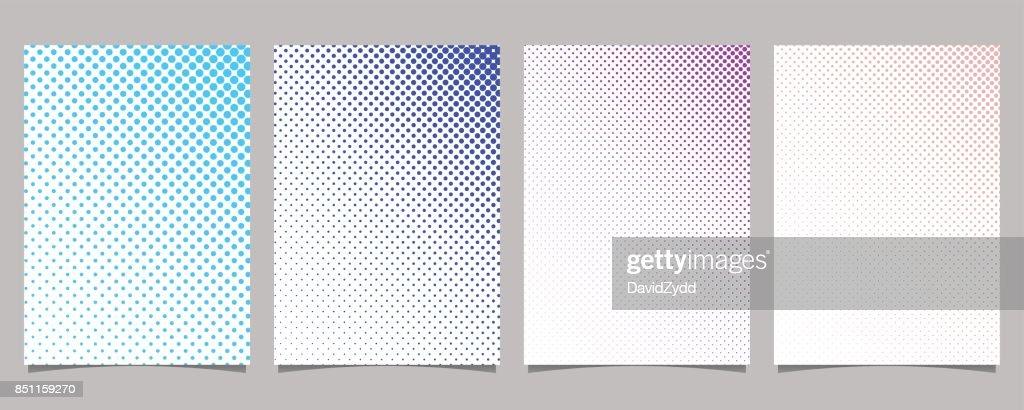 Retro Brochure Template   Retro Abstract Halftone Dot Pattern Brochure Template Set Vector