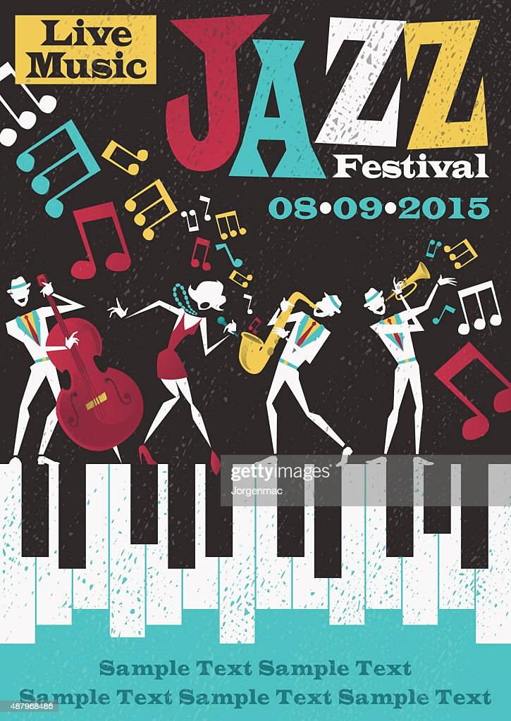 Retro Abstract Jazz Festival Poster