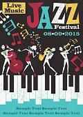 Retro Abstract Jazz Festival Poster