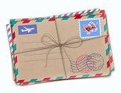 Retro airmail envelopes