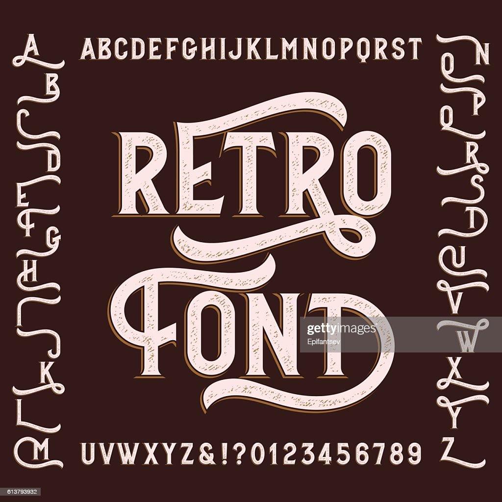 Retro alphabet font with alternates.