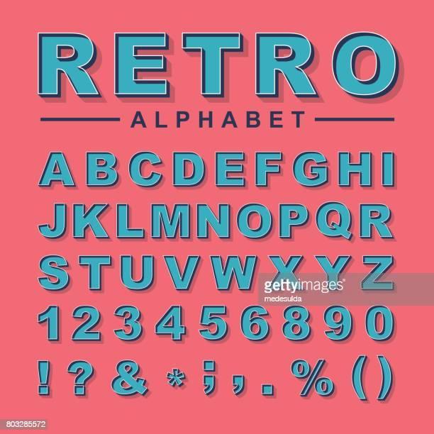 アルファベットレトロ - アルファベット順点のイラスト素材/クリップアート素材/マンガ素材/アイコン素材