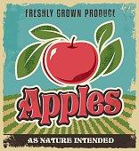 Retro apple vintage advertising poster