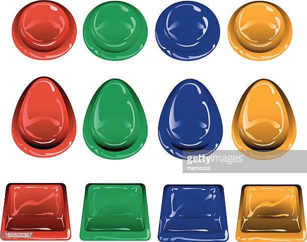 Retro Arcade Buttons (vector)