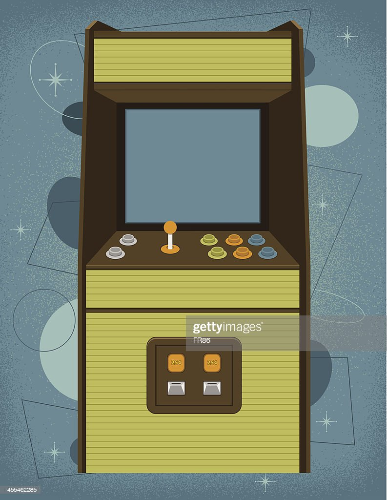 Retro Arcade Machine : stock illustration