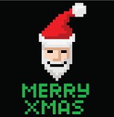 Retro arcade pixel art Santa
