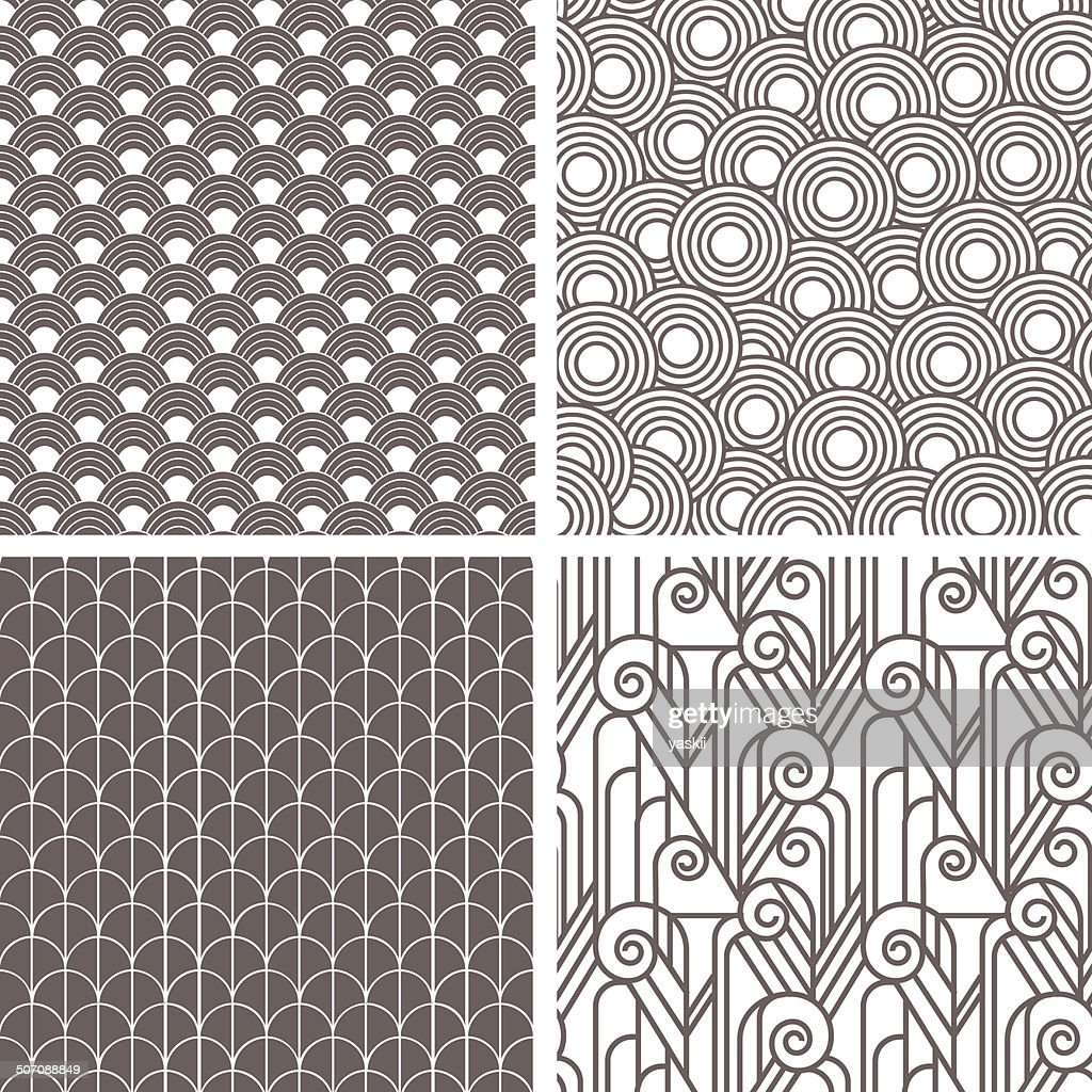 Retro art deco patterns