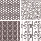 Retro art deco patterns