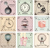 retro backgrounds and vintage labels