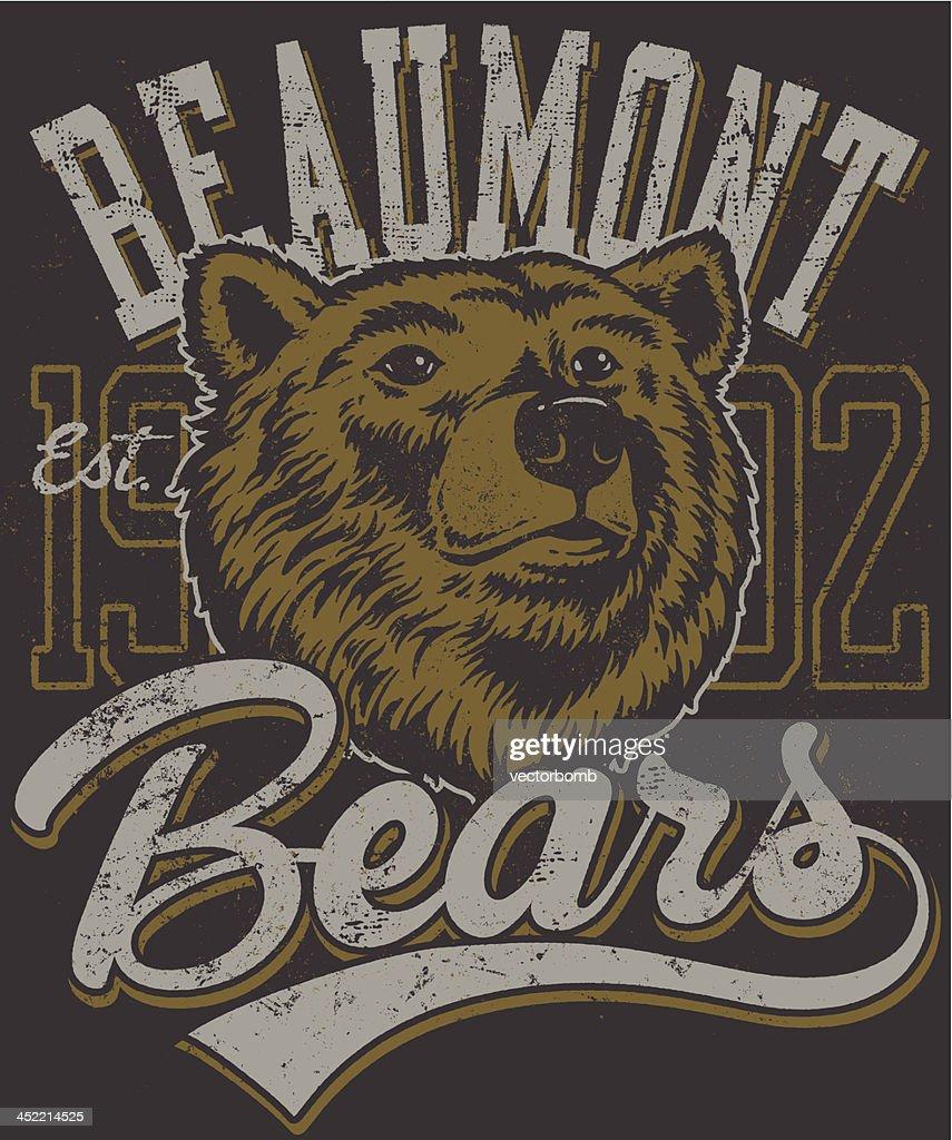 Retro Bears Mascot Design