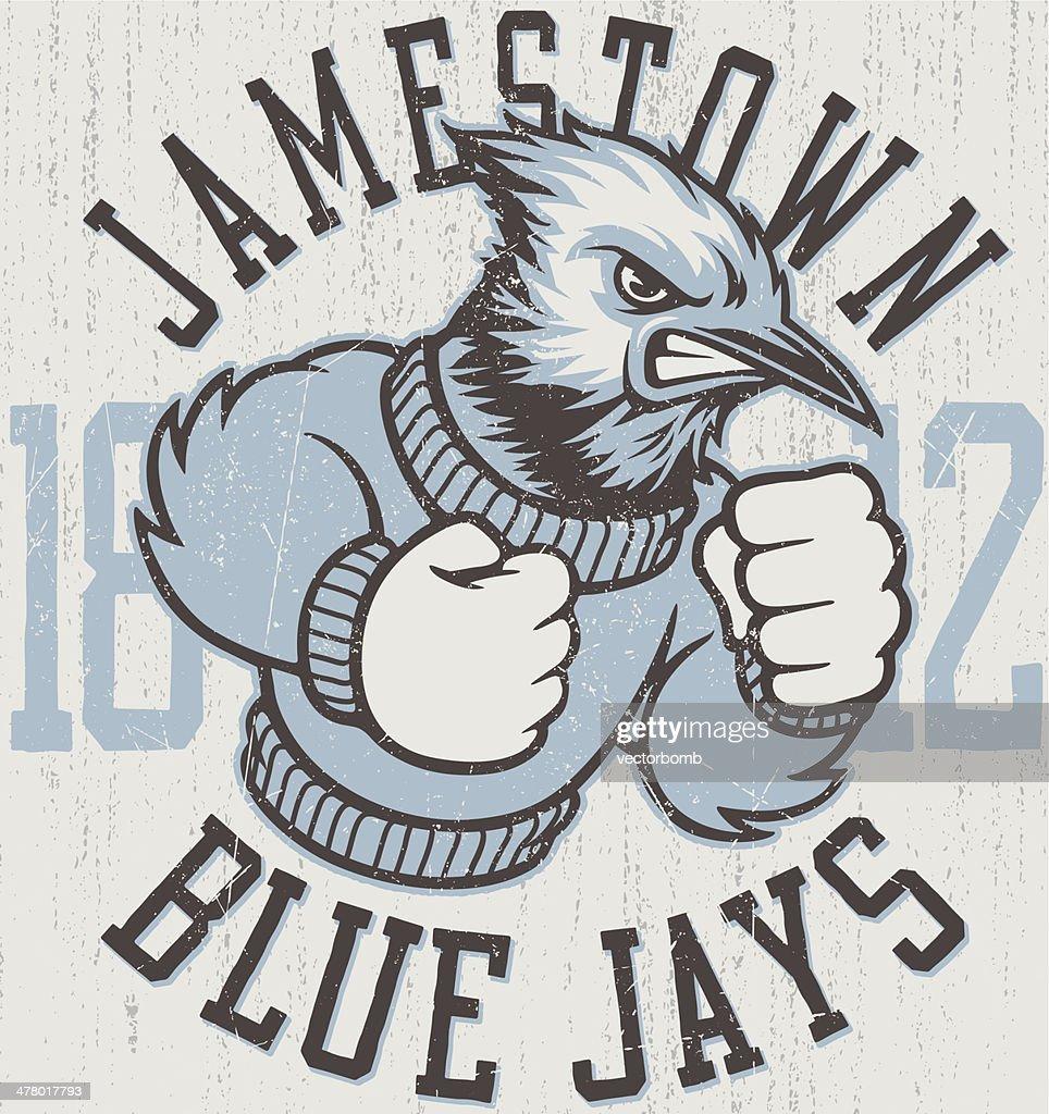 Retro Blue Jays Mascot Design