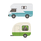 Retro Camper Trailer Collection Car Trailers Caravan Tourism
