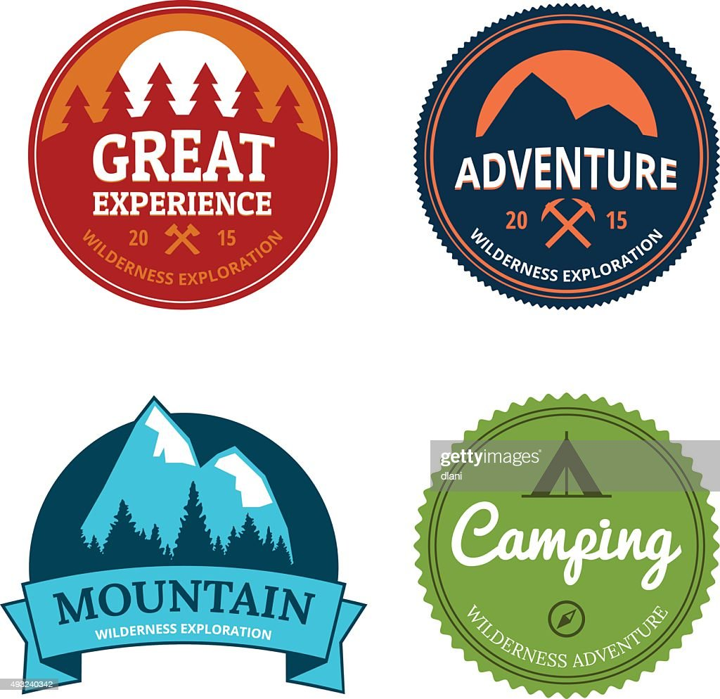 retro camping logos