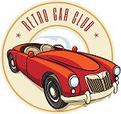 Retro car label
