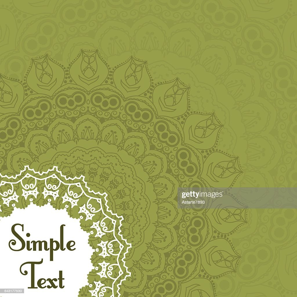 Retro Card With Mandala Vintage Background With Place For Text ...