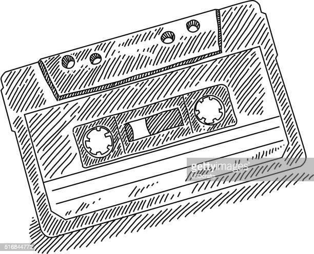 Retro Cassette Drawing