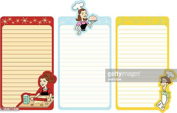 retro chefs shopping list - shopping list stock illustrations, clip art, cartoons, & icons