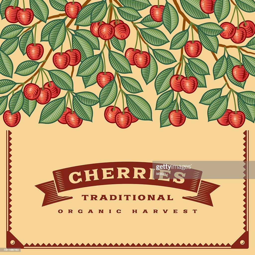 Retro cherry harvest card