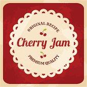 Retro Cherry Jam Label