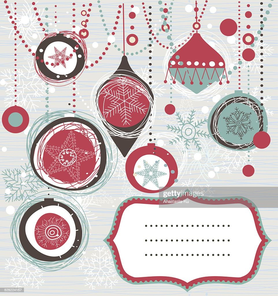 retro Christmas background with place for your text