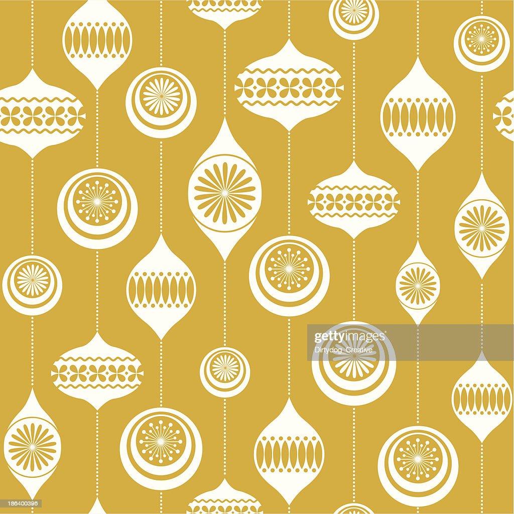 Retro Christmas bauble seamless vintage background