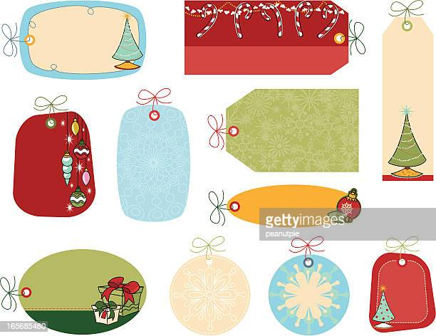 Retro Christmas Deco Gift Tags