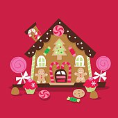 Retro Christmas Gingerbread House