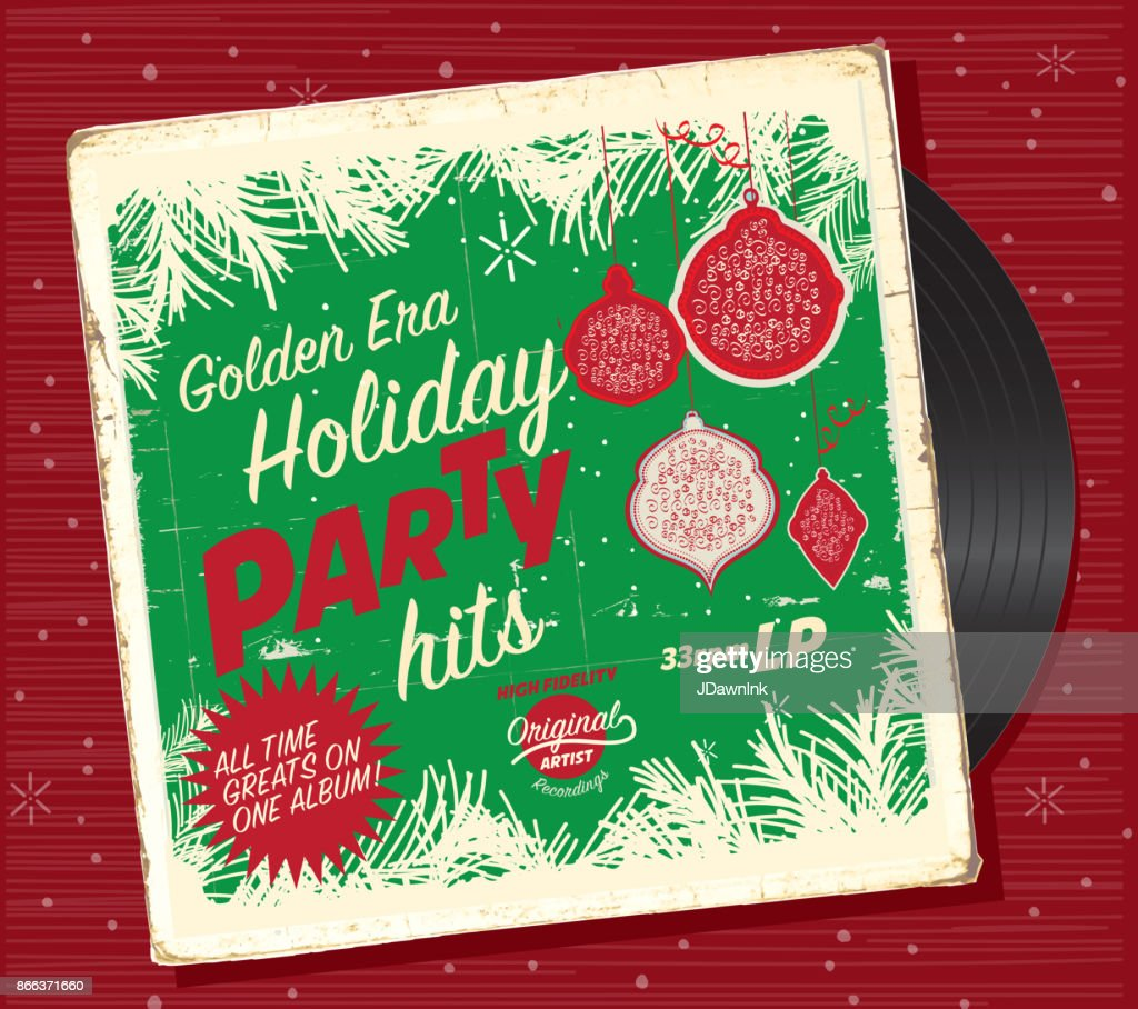 Retro Christmas.Retro Christmas Or Holiday Music Record Compilation Design