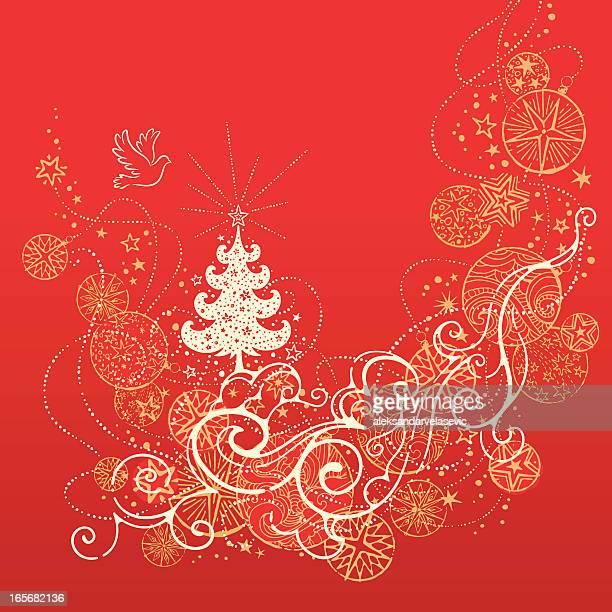 ilustrações de stock, clip art, desenhos animados e ícones de retro natal - estrelas de natal