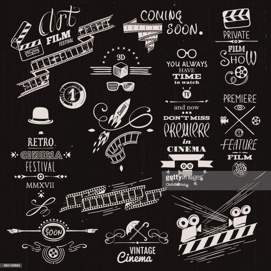 Retro Cinema Headers, Signs and Vignettes