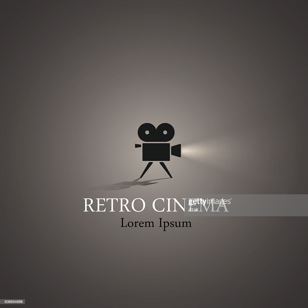 Retro cinema symbol