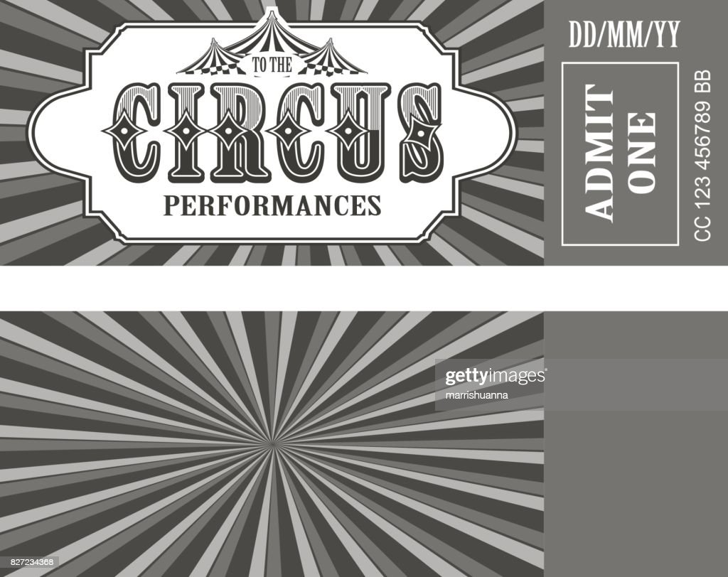 Retro circus ticket