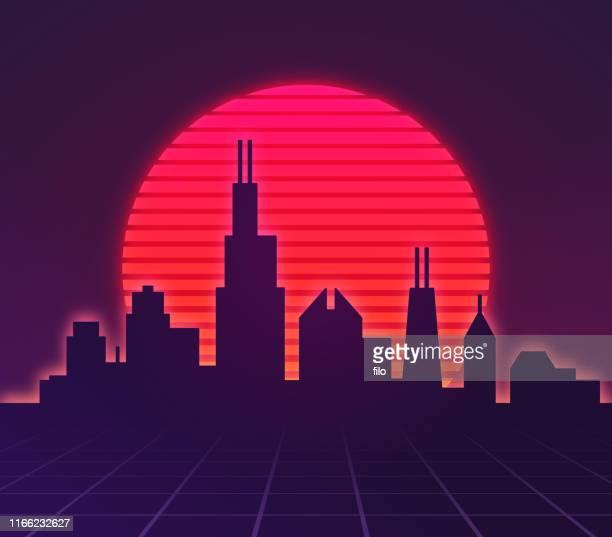 Retro City Background