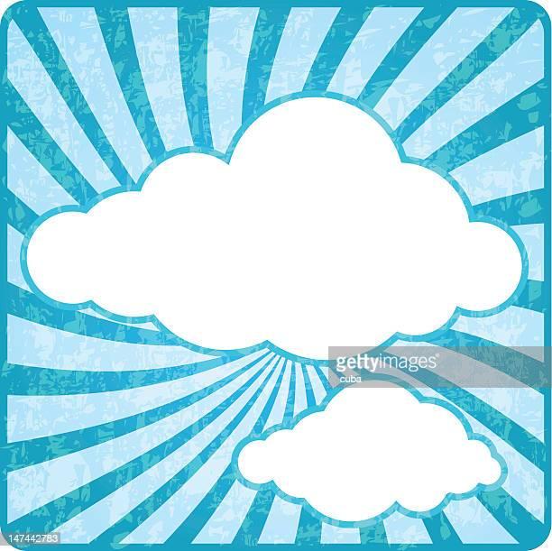 Retro cloud sky