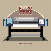 Retro color large printer