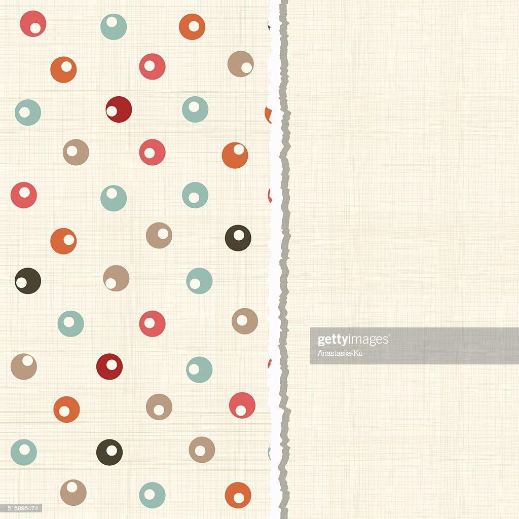 retro colorful polka dots background