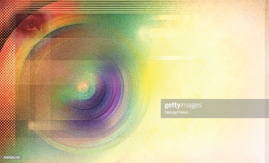 Retro Colorful Radial Background : stock illustration