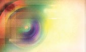 Retro Colorful Radial Background