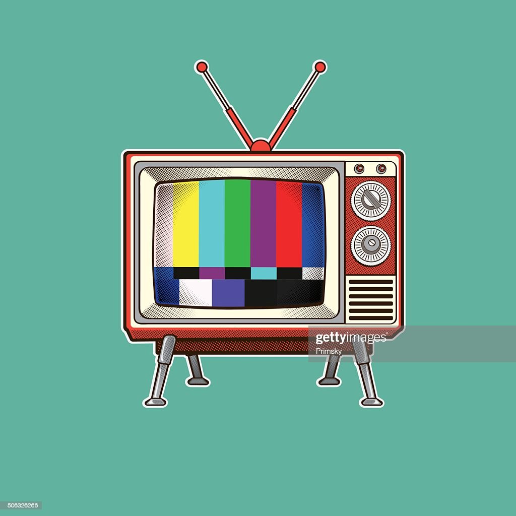 Retro Colorful TV vector illustration