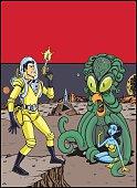 Retro Comic Book Cover