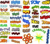 Retro comic book word collection.