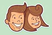 Retro comic couple