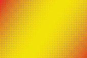 retro comic yellow background raster gradient halftone comic style, vector illustration